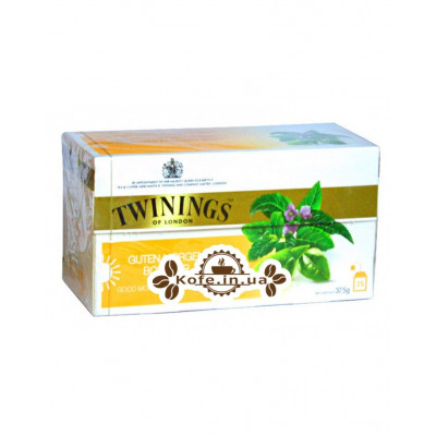 Чай TWININGS Guten Morgen Bonjour Вербена Мята 25 х 2 г