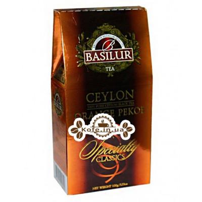 Чай BASILUR Ceylon Orange Pekoe Цейлонський Оранж Пеко - Обрана Класика 100 г к / п (4792252920699)