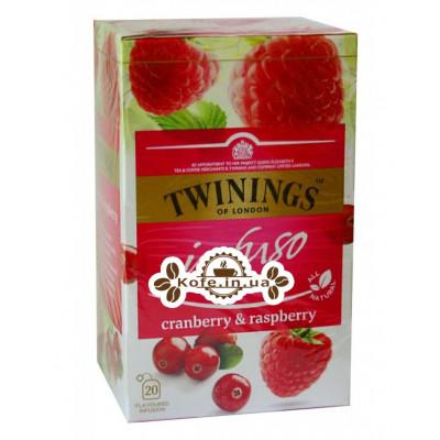 Чай TWININGS Infuso Cranberry Raspberry Клюква Малина 20 х 2 г (070177177614)