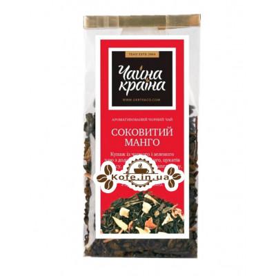 Соковитий Манго купаж чорного і зеленого чаю Чайна Країна - Дольче Віта 100 г п / п