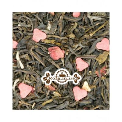 Суничний Твіст зелений ароматизований чай Чайна Країна