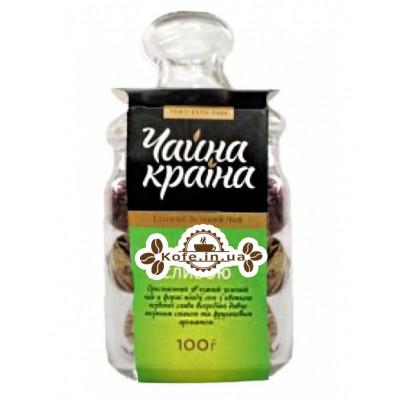Личи с Красной Сливой зеленый вязаный чай Чайна Країна 100 г ст. б.