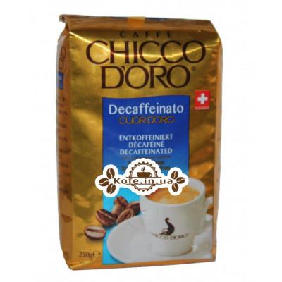 Кофе Chicco d'Oro Decaffeinato Cuor d'Oro без кофеина зерновой 250 г (7610899210256)