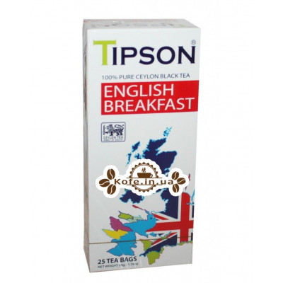 Чай Tipson English Breakfast Английский Завтрак 25 х 2 г к/п (4792252002401)