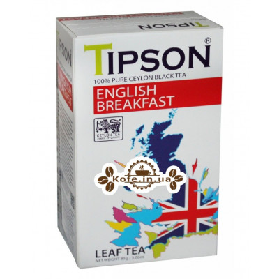Чай Tipson English Breakfast Англійська Сніданок 85 г к / п (4792252931725)