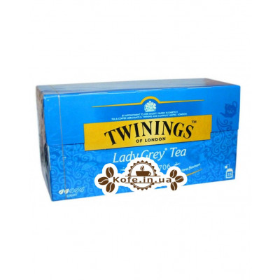 Чай TWININGS Lady Grey Tea Леді Грей 25 х 2 г (070177078775)
