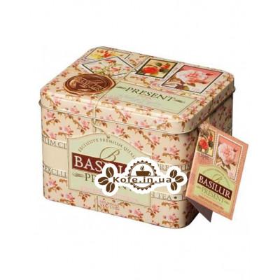 Чай BASILUR Pink Caddy Рожевий Подарунок - Святкова 100 г ж / б (4792252100282)