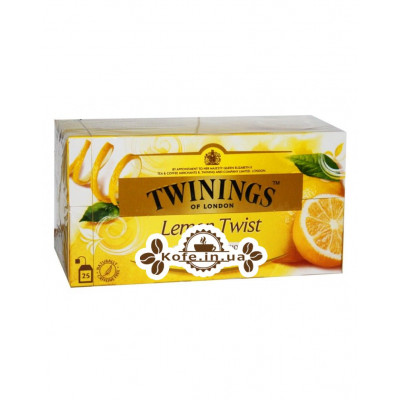 Чай TWININGS Lemon Twist Лимон Твист 25 х 1,5 г (070177083831)