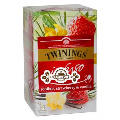 Чай TWININGS Infuso Rooibos Strawberry Vanilla Ройбуш Полуниця Ваніль 20 х 2 г (070177177706)