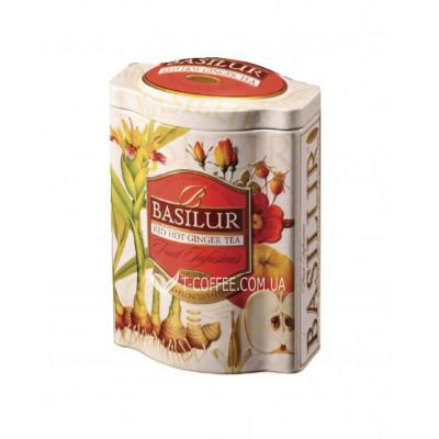 Чай BASILUR Red Hot Ginger Tea Палаючий Імбир - Фруктові Коктейлі 100 г ж / б (4792252918030)