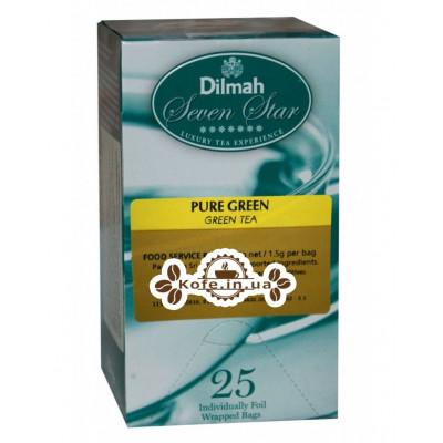 Чай Dilmah Seven Star Pure Green Зелений 25 x 1,5 г