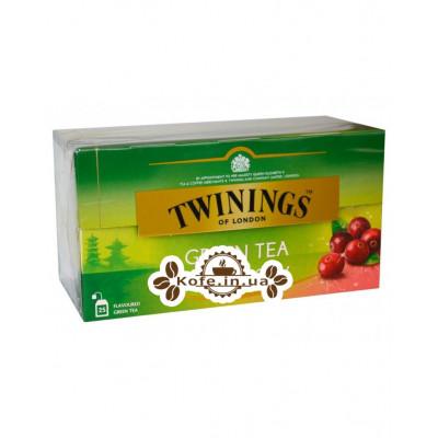 Чай TWININGS Green Tea Cranberry Зелений Журавлина 25 х 1,8 г (070177173333)