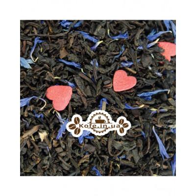 Васильковый черный ароматизированный чай Світ чаю