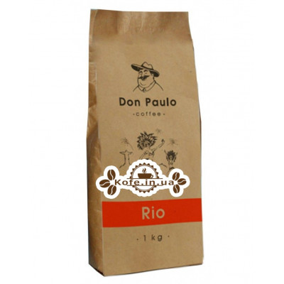 Кава Don Paulo Rio зернова 1 кг