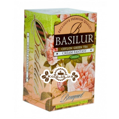 Чай BASILUR Cream Fantasy Кремовая Фантазия - Букет 20 х 2 г (4792252002111)