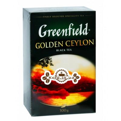 Чай Greenfield Golden Ceylon Цейлон 100 г к/п (4823096801063)