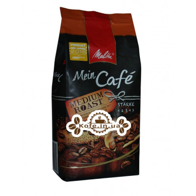 Кава Melitta Mein Cafе Medium Roast зернова 1 кг