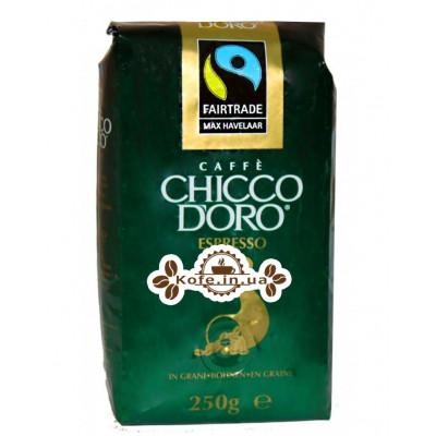 Кофе Chicco d'Oro Espresso Max Havelaar зерновой 250 г (7610899001021)