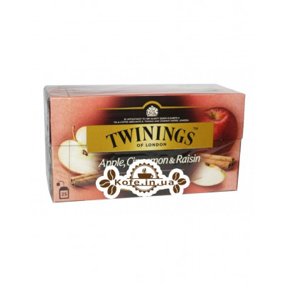 Чай TWININGS Apple Cinnamon Raisin Tea Яблуко Кориця Ізюм 25 х 2 г (070177120948)