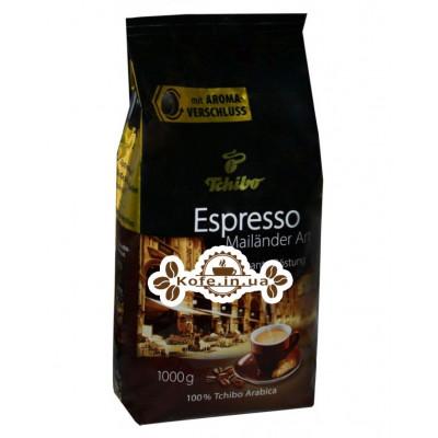 Кофе Tchibo Espresso Mailander Art зерновой 1 кг (4046234158892)