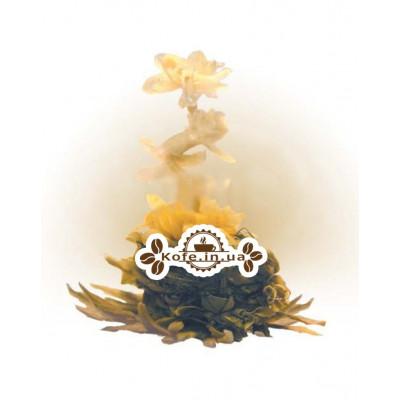 Цветок Богатства белый вязаный чай Османтус