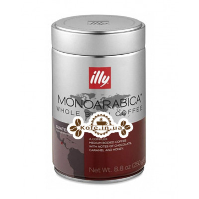Кофе illy Monoarabica Guatemala зерновой 250 г ж/б (8003753970073)