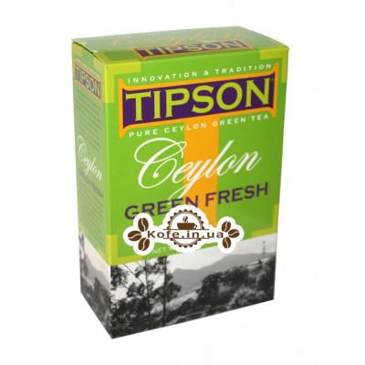 Чай Tipson Ceylon Green Fresh Зеленая Свежесть Цейлона 200 г к/п