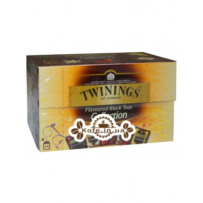 Чай TWININGS Collection Flavoured Black Teas Ассорти Черный Ароматизированный Чай 20 х 2 г (070177174736)