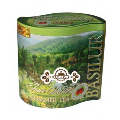 Чай BASILUR Summer Tea Летний - Времена Года 100 г ж/б (4792252929227)