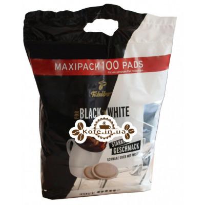 Кофе Tchibo FOR BLACK N WHITE в монодозах (чалдах, таблетках) 100 х 7,4 г (4046234837971)