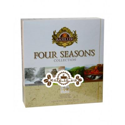 Чай BASILUR Assorted Four Seasons Ассорти - Времена Года 40 х 2 г (4792252934726)