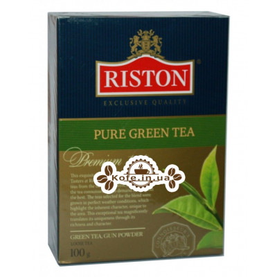 Чай Riston Pure Green Tea GP Ганпаудер 100 г к/п (4792156002187)