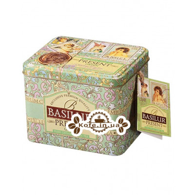 Чай BASILUR Green Caddy Зелений Подарунок - Святкова 100 г ж / б (4792252100183)