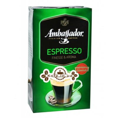 Кофе Ambassador Espresso молотый 450 г (8719325127386)