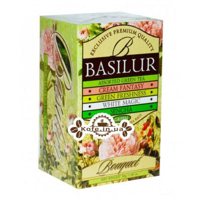 Чай BASILUR Assorted Green Tea Асорті - Букет 20 х 2 г (4792252001121)