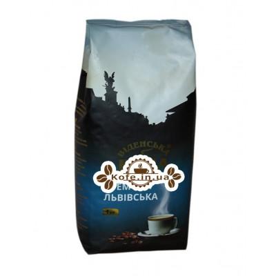 Кава Віденська Кава Львівська Кремова зернова 1 кг (4820000371575)