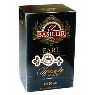 Чай BASILUR Earl Grey Ерл Грей - Обрана Класика 20 х 2 г (4792252001114)