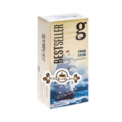 Чай GRACE! Earl Grey Граф Грей - Бестселер 25 х 2 г (5060207692571)
