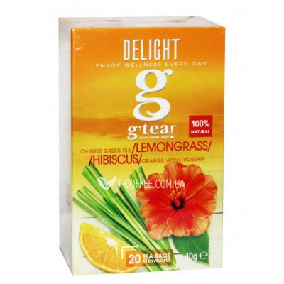 Чай GRACE! Green Tea Lemongrass Hibiscus Зелений чай Лемонграс Гібіскус - Wellness 20 х 2 г (5060207695893)