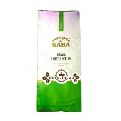Кава Віденська Кава Арабіка Бразилія Сантос 19 зернової 250 г