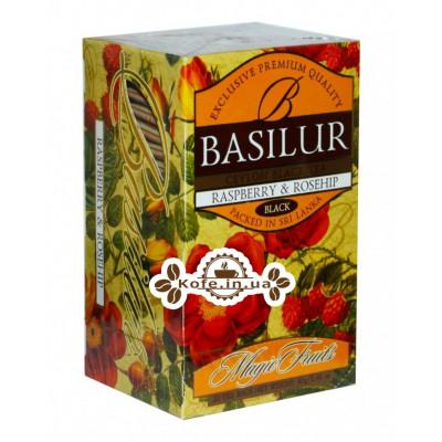 Чай BASILUR Raspberry Rosehip Малина Шипшина - Чарівні Фрукти 20 х 2 г (4792252001084)