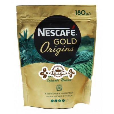 Кофе NESCAFE Gold Origins Indonesia Sumatra растворимый 180 г эконом. пак. (7613038806235)