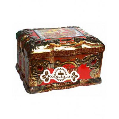Чай BASILUR Red Topaz Червоний Топаз - Скринька 100 г ж / б (4792252917804)