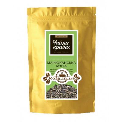 Марокканская Мята зеленый ароматизированный чай Чайна Країна - Елисейские Поля 100 г ф/п
