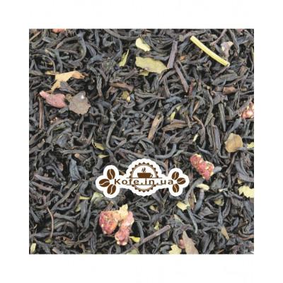Суниця з Вершками чорний ароматизований чай Світ чаю