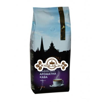 Кофе Віденська Кава Львівська Ароматна Кава зерновой 1 кг (4820000371575)