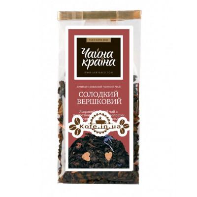 Сладкий Сливочный черный ароматизированный чай Чайна Країна - Дольче Вита 100 г п/п