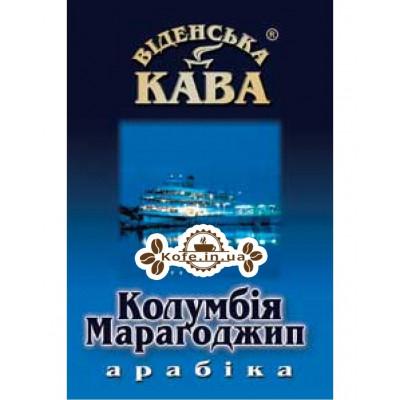 Кава Віденська Кава Арабіка Марагоджип Колумбія зернова 500 г