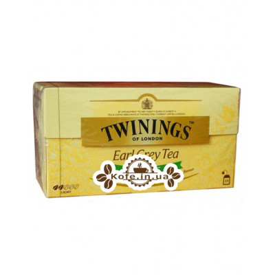 Чай TWININGS Earl Grey ORGANIC Эрл Грей Органик 25 х 2 г