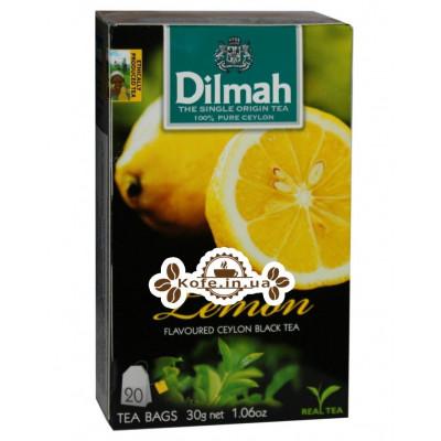 Чай Dilmah Black Tea Lemon Лимон 20 x 1,5 г (9312631142129)